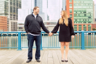 Boston Seaport Engagement Shoot.