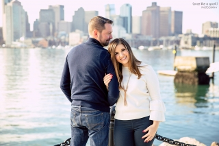 Boston Wedding Photographer - Engagement shoot at Piers Park