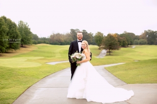 Marietta Country Club Wedding Photographer - Auburn Toomer's Corner Cake Topper!