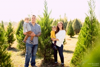 Georgia Family Photographer - family session on Christmas tree farm in South Georgia.