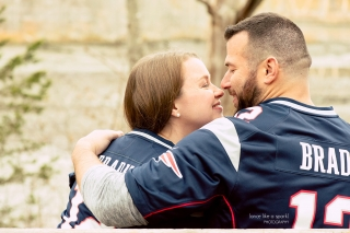 Massachusetts Engagement session at World's End with MA wedding photographer