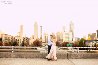 Atlanta, GA Engagement Shoot at Piedmont Park and Jackson Street Bridge