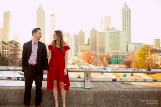 Atlanta Wedding & Engagement Photographer on Jackson Street Bridge and in Piedmont Park.