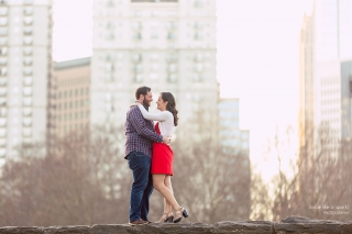 Piedmont Park Engagement Shoot with Affordable Atlanta Wedding Photographer