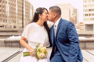 Boston City Hall Wedding - Boston Wedding Photographer