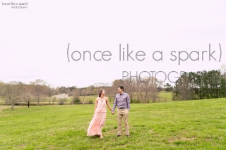 Snellville, GA Engagement at Lenora Park. Gorgeous blush dress, perfect for engagements and portrait sessions!