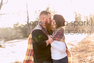 Middleboro, MA Engagement & Wedding photographer. Simple outfits for winter engagement shoot.
